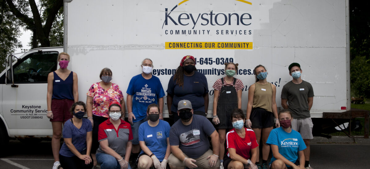 Keystone staff and volunteers at event