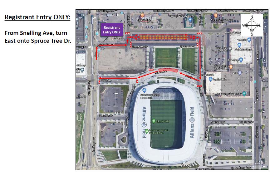 Allianz Field Event Map