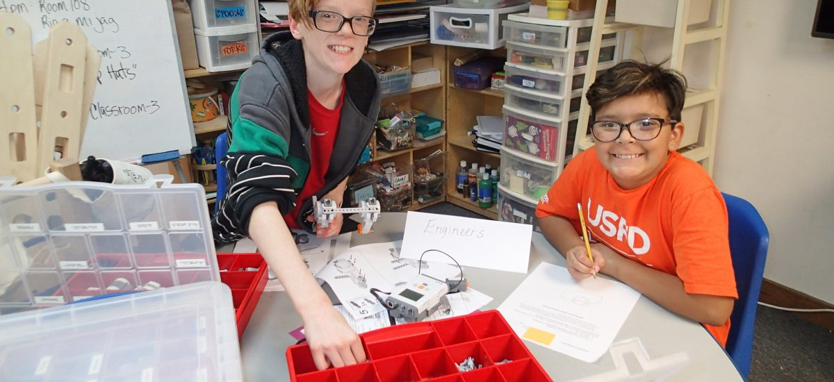 Photo of youth doing science and engineering activities