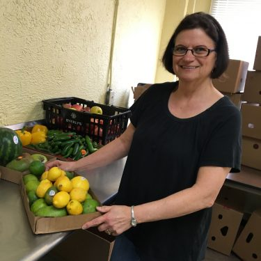 Michaela, food shelf volunteer
