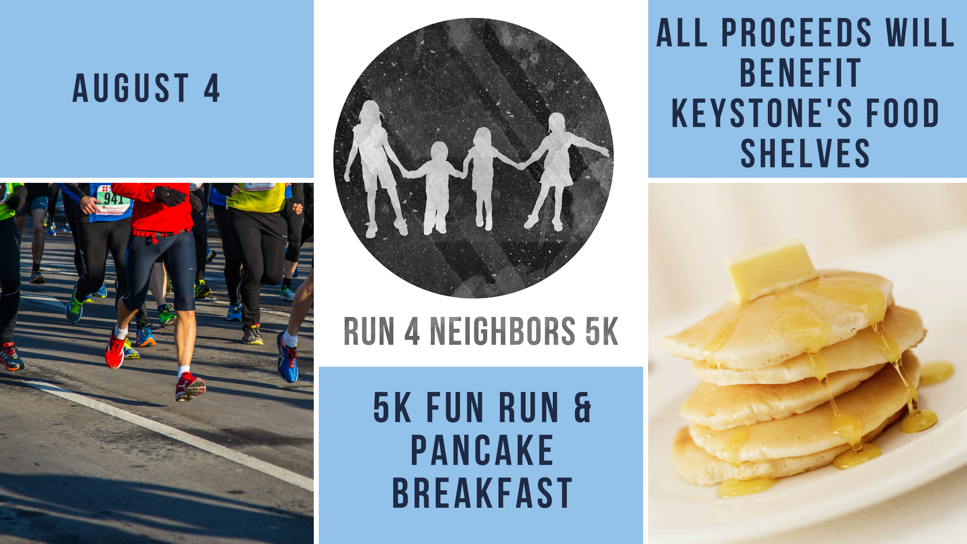 Run 4 Neighbors 5K and Breakfast Event